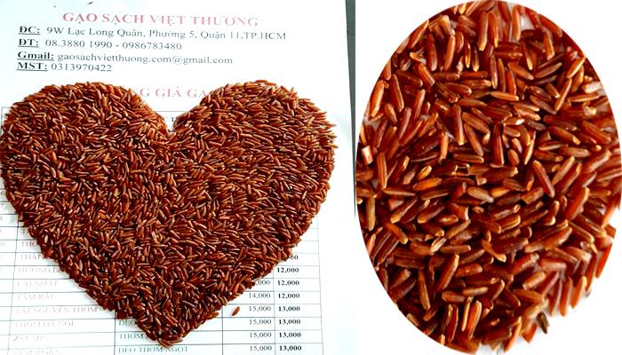 gạo lứt giá rẻ tại vựa gạo sạch Việt Thương tpHCM 01